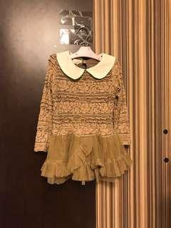 Size9 3Y 女童 女孩 喱士 裙 連身裙 lace girls kids dress