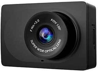 "[E555] YI Compact Dash Cam, 1080p Full HD Car Dashboard Camera with 2.7"" LCD Screen, 130° WDR Lens, G-Sensor, Night Vision, Loop Recording - Black"