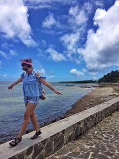 SUMMER OOTD⭐️ Light Blue Cold Shoulder Top and Pull & Bear denim Shorts