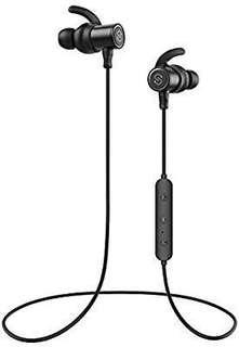 [E559] SoundPEATS Bluetooth Earphones, Wireless 4.1 Magnetic Headphones, In-Ear IPX6 Sweatproof Earbuds With Mic (Super Sound With 10MM Drivers And APTX, 8 Hours Working Time, Secure Fit Design)-Black