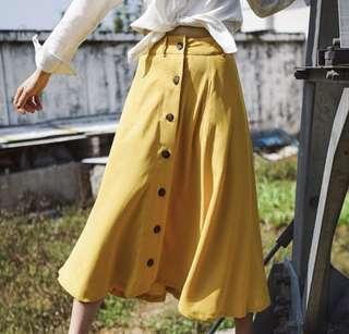 🚚 簡約復古雪紡長裙