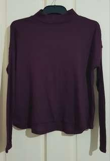 Maroon Purple Long Sleeve Top Sz XS