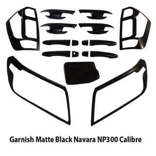 Navara NP300 Calibre 4x2 Garnish Covers Full Set Trim Matte Black