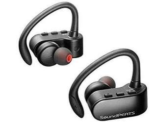 [E554] SoundPEATS Q16 Upgraded Version Truely Wireless Stereo Bluetooth 4.2 Headphones with Mic