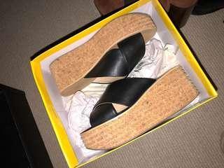 Sportsgirl wedge platform slides sandals 38/7