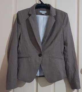 Brown Patterned Blazer Sz 8