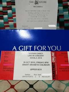 Mariah Carey Concert Upper Box Ticket