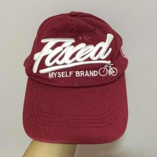 RED FIXED MYSELF BRAND CAP