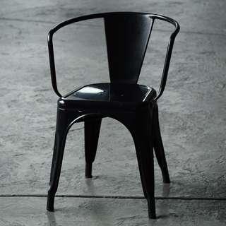 Metal Black Chair Industrial Design