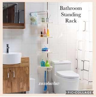 Brand New Stainless Steel Extendable Standing Bathroom Rack