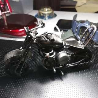 All metal motorcycle
