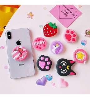 Character Pop Sockets /Phone Holder and Stand