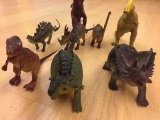 Dino 恐龍 共8隻