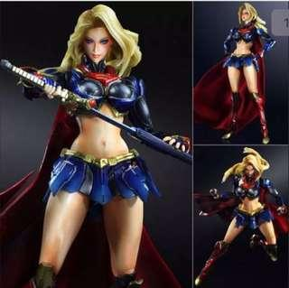 Play Arts Kai Superman Man Of Steel Supergirl Super Girl