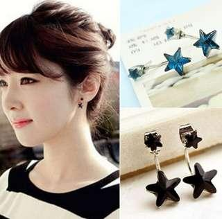 Blue Star Fashion Earrings