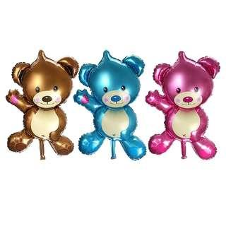 3pcs Deflated Bear Foil Balloon