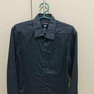 H&M Dark Gray Polo Longsleeves
