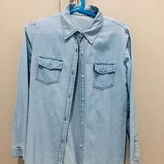 Denim Polo from Korea