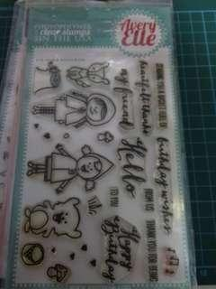 Avery elle red and goldie stamp set