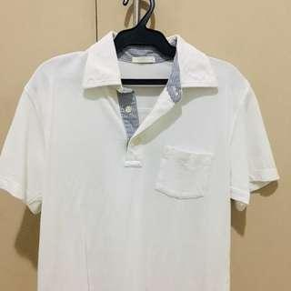 GU White Polo Shirt