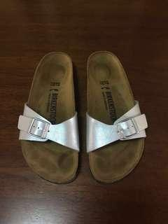 25% Off BIRKENSTOCK WOMENS MADRID SANDALS SIZE 37 GRACEFUL SILVER