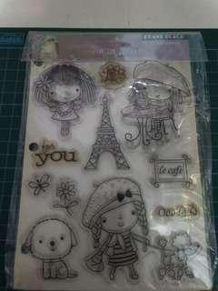 Penny black mimi in paris stamp set