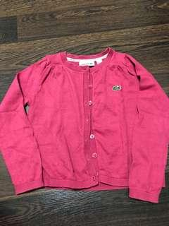 Pre-loved lacoste maroon cardigan size 4