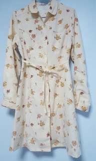 🚚 氣質 修身 長袖襯衫式洋裝