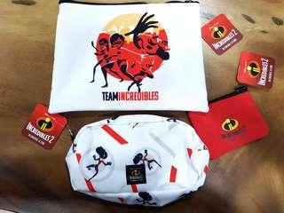 Incredibles 2 Set of 3 pouches