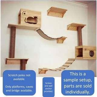 Cat Wall Condo tree climb kitten scratch post board, not cage carrier bed food capsule