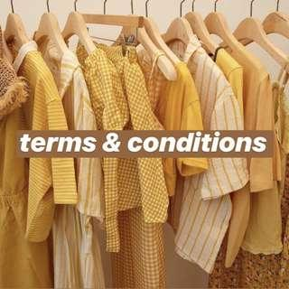 TERMS & CONDITIONS 💘🌈💓 [UPDATED]