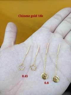 18k Tictac Earrings