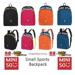 Original Miniso Sport Backpack small - Tas Ransel miniso sport unisex