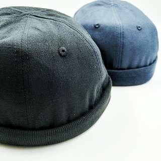 🚚 [ 阿瑋收藏樂 ] 超級有質感 挺布料 水兵帽 羅紋帽簷 魔鬼氈好調整帽帶 男 女 中性 穿搭 街頭 時尚 軍事