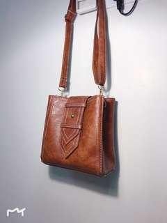 Brand New Easy-To-Match Brown Sling Bag