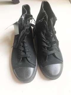 Black High Cut Sneakers