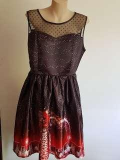 Christmas theme dress size L
