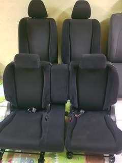 Seat honda stream rn6 rsz hitam dgn door trim