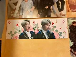 BTS bangtan boys jimin fansite fabric slogan Kpop