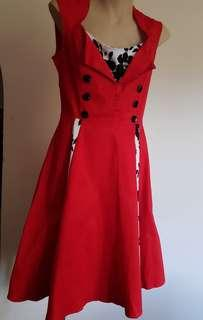 Pin up style dress size m