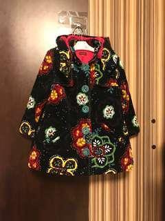 Size4Y 102cm catimini 女童 保暖 夾棉 厚身 燈芯絨 冬天 大褸 大衣 外套