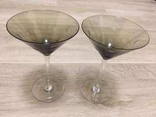 灰色雞尾酒杯一對