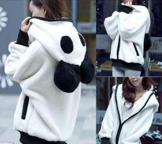 Cute Panda Winter Warm Hoodie Jacket