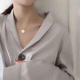 ulzzang CIRCLE necklace 💓