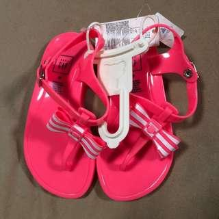 Baby Gap bow jelly sandals