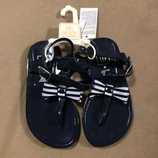 Baby Gap bow jelly sandals dark night