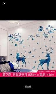 🌏Wall Sticker  PVC可移除自粘牆貼