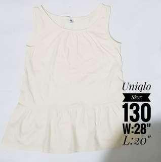 Uniqlo white peplum top