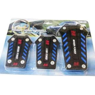 Mugen Power CAR Non-Slip Rubber Pedal Pad Kit Gas Clutch Brake Cover MT