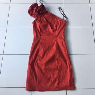 Elegant Red Dinner Dress